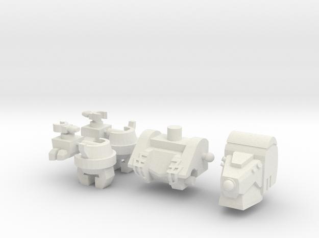Big Lug Upgrade Set in White Natural Versatile Plastic