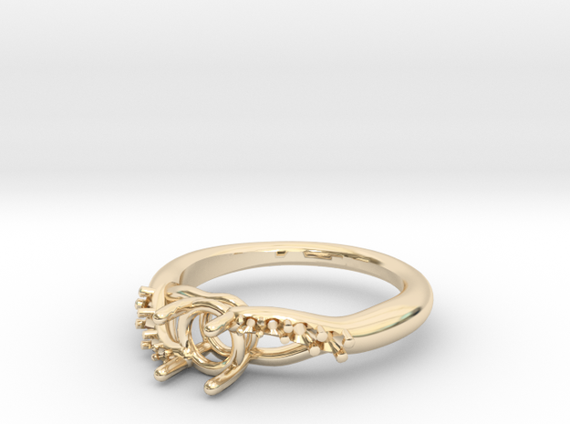 AB052 Eng. Ring in 14K Yellow Gold