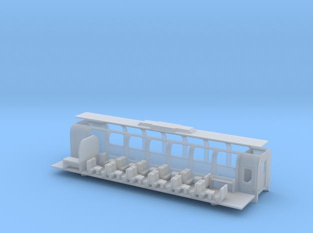 RhB Bps 2512-2515 in Smooth Fine Detail Plastic: 1:120 - TT