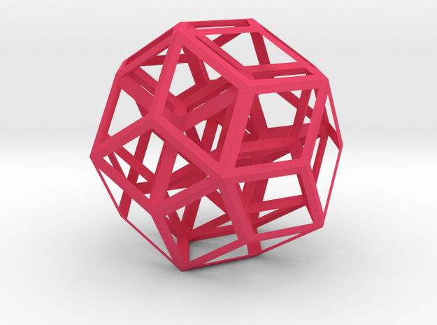 Icosahedral Oriented Matroid in Pink Processed Versatile Plastic