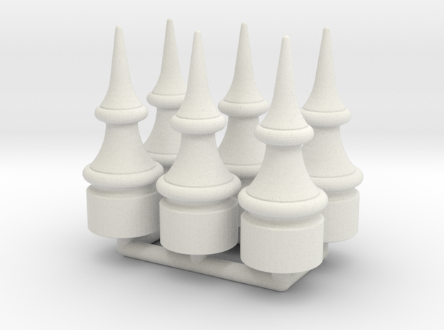 US&S Semaphore Finial 1:24 scale Pack in White Natural Versatile Plastic
