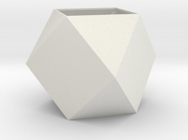 lawal 108 mm cuboctahedron  in White Natural Versatile Plastic