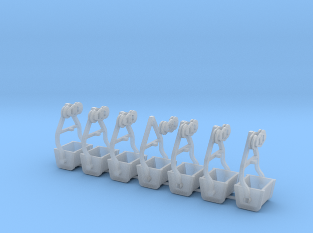 Gold King Bucket Tramway Bucket 6 pk 1-87 in Smoothest Fine Detail Plastic