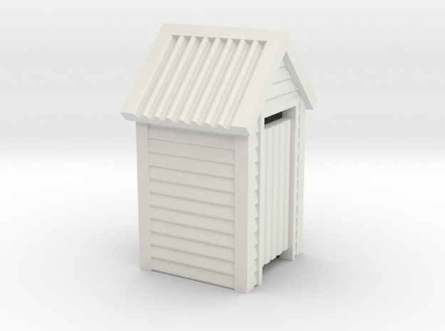 HO Scale Wooden Outdoor Toilet Dunny 1:87 in White Natural Versatile Plastic