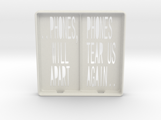 Incommunicado Case - 'Phones Will Tear Us Apart' in White Strong & Flexible