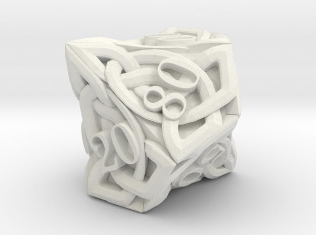 Celtic Percentile D10 - Solid Centre for Plastic in White Natural Versatile Plastic
