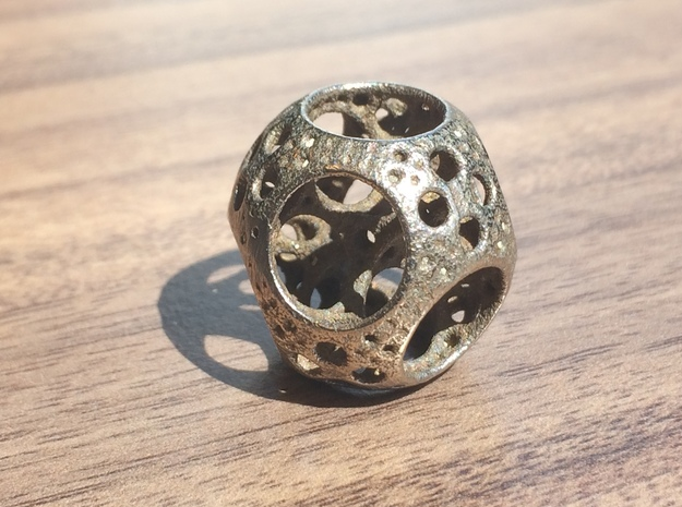 Apollonian Octahedron Mini 3d printed Stainless Steel
