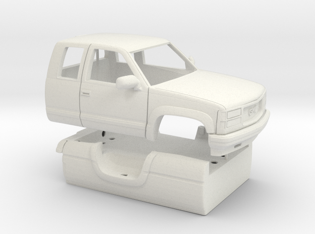 1/25 1989-98 GMC Sierra Ext Cab Long Bed Shell in White Natural Versatile Plastic