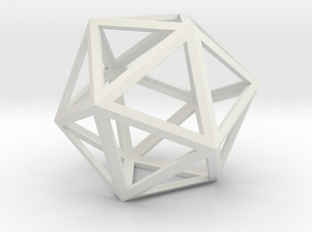 lawal  5.8 mm skeletal icosahedron shell in White Natural Versatile Plastic