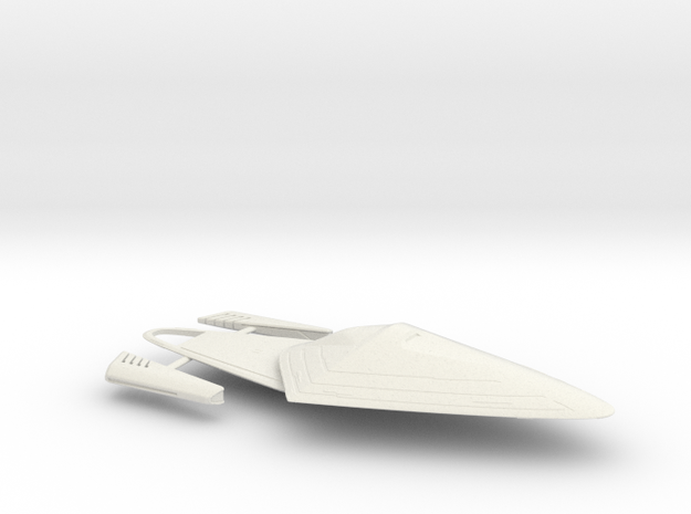 USS Voyager-J (Jointed) / 14cm - 5.5in in White Natural Versatile Plastic