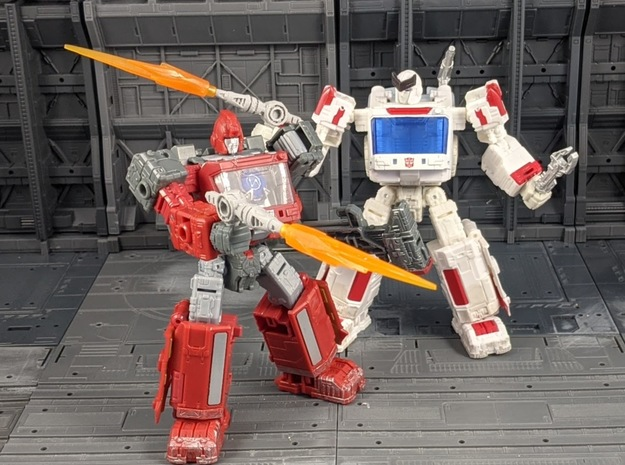 TF Seige Ironhide Ratchet Weapon 2 Pack in White Natural Versatile Plastic