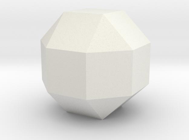 lawal 27 mm rhombicuboctahedron basics 1 in White Natural Versatile Plastic