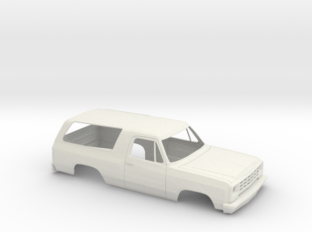 1/24 1981-90 Dodge Ram Charger Shell in White Natural Versatile Plastic