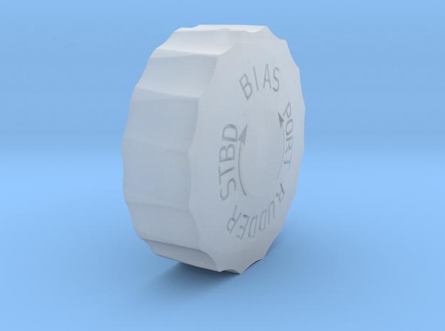 Rudder bias wheel in Smooth Fine Detail Plastic
