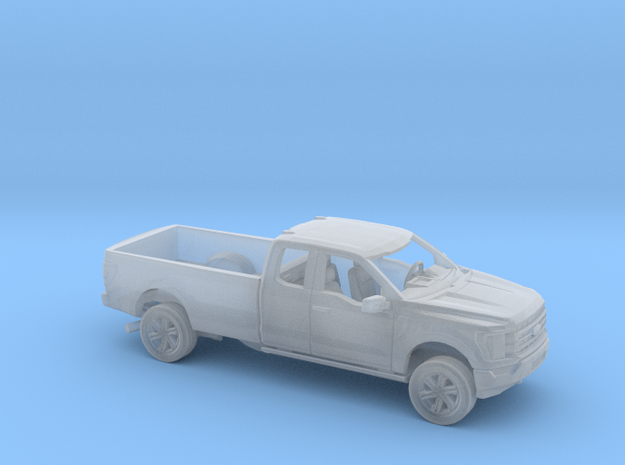 1/87 2021 Ford F150 Extended Cab Long Bed Kit in Smooth Fine Detail Plastic