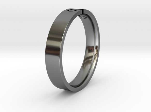 Ring SB 56 in Fine Detail Polished Silver