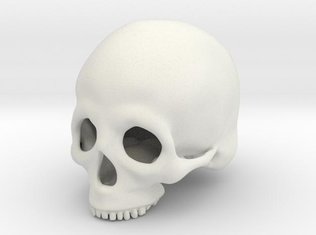 Skull Deko (small) in White Natural Versatile Plastic