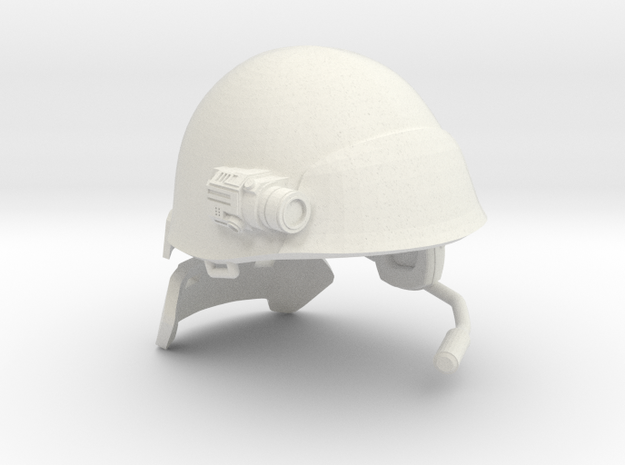 "USCM Helmet for 7"" figures in White Natural Versatile Plastic"