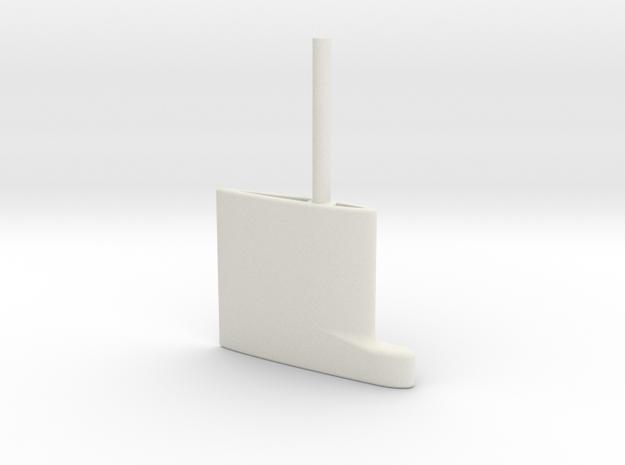 SBoot main rudder 24th in White Natural Versatile Plastic