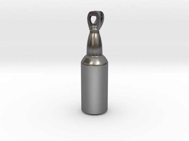 Beer Bottle in Polished Nickel Steel