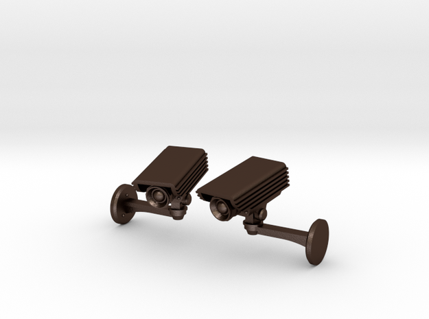 CCTV surveillance camera cufflinks 3d printed