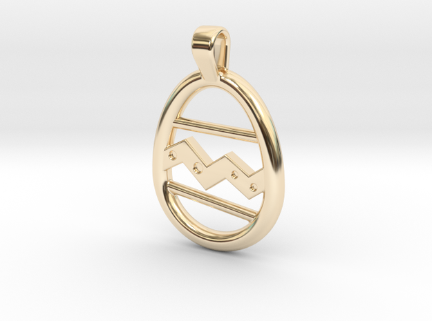 Easter Egg Pendant in 14k Gold Plated Brass