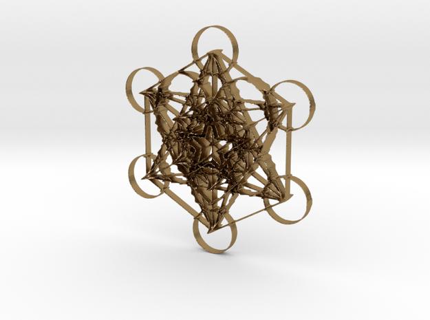 Meta-Love Pendant in Polished Gold Steel: Medium