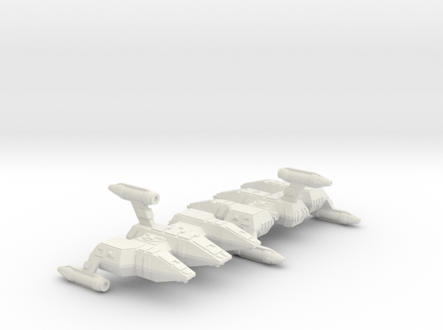 3125 Scale Lyran Military Police Corvettes (2) in White Natural Versatile Plastic