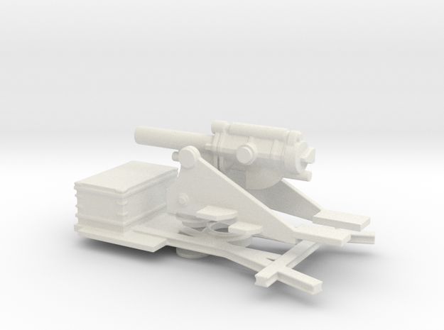 bl 9.2  mk 2 1/72 artillery ww1 in White Natural Versatile Plastic