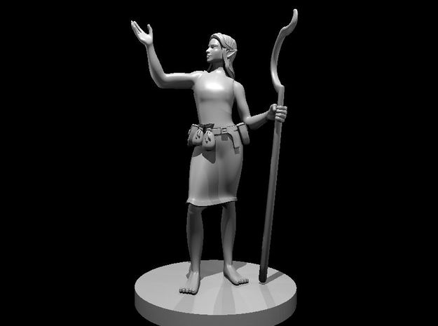Female Elf Druid 3 in Smooth Fine Detail Plastic