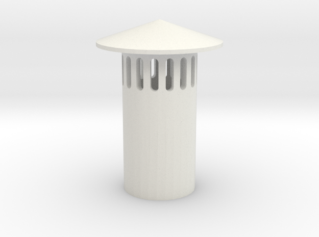 HO Vent Stack (1) (1:87) in White Natural Versatile Plastic