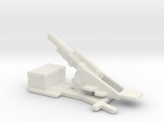 bl 9.2 inch  MK 2  siege howitzer 1/144 in White Natural Versatile Plastic