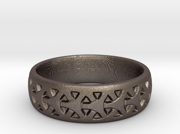 Seamless Celtic Pattern Ring in Stainless Steel