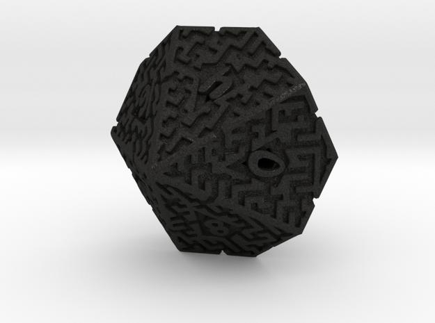 10 Sided Maze Die 3d printed