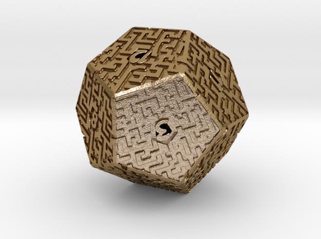 12 Sided Maze Die 3d printed