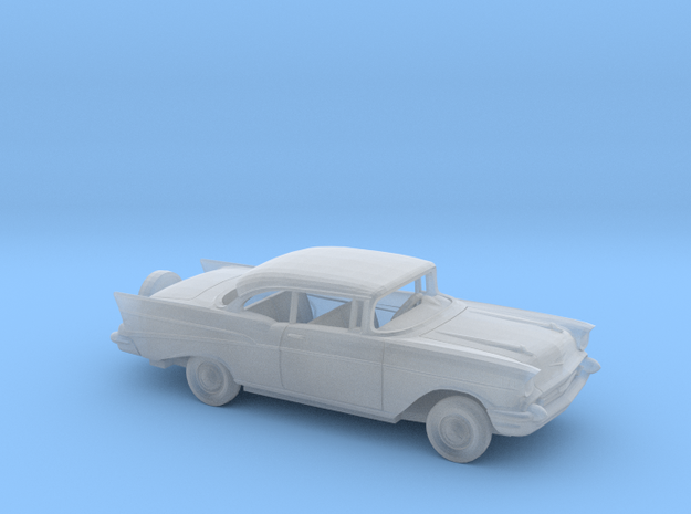 1/87 1957 Chevrolet BelAir Coupe w Spare Kit in Smooth Fine Detail Plastic