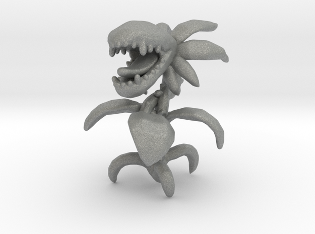 Carnivorous Plant miniature model fantasy game dnd in Gray PA12