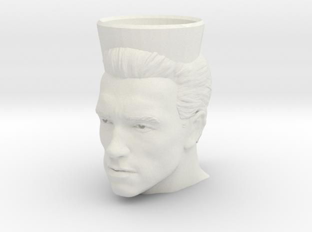 Arnold Schwarzenegger Cofee Mug  in White Natural Versatile Plastic