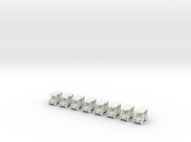 Besatzungsteil Oldtimer Version 1 1:87 (H0 scale) in White Natural Versatile Plastic