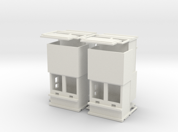 """carnival """"4 ticketboxes""""  1:87 (H0 scale) in White Strong & Flexible"""