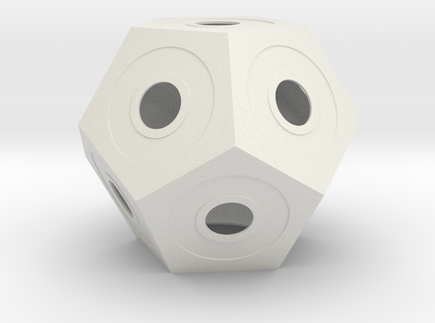 gmtrx lawal skeletal dodecahedron lampshade in White Natural Versatile Plastic