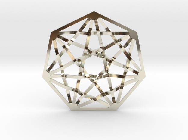 7D Hypercube Pendant