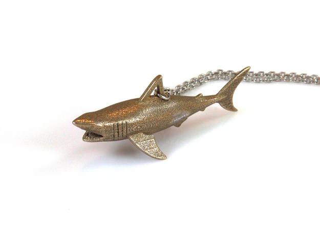 Shark Pendant in Stainless Steel