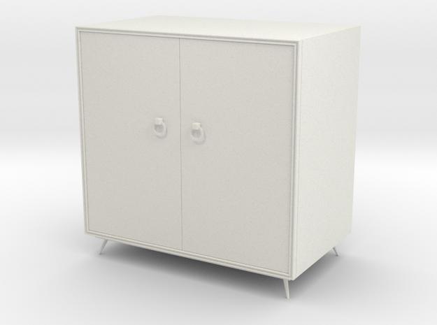 Miniature cabinet in White Natural Versatile Plastic