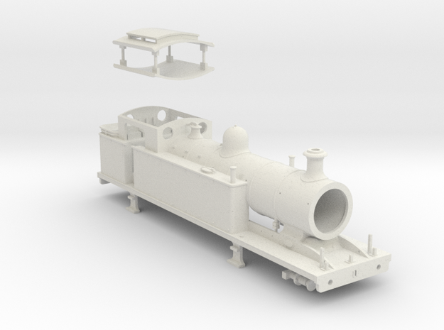 HO scale LBSCR I 3 Standard Config. in White Natural Versatile Plastic