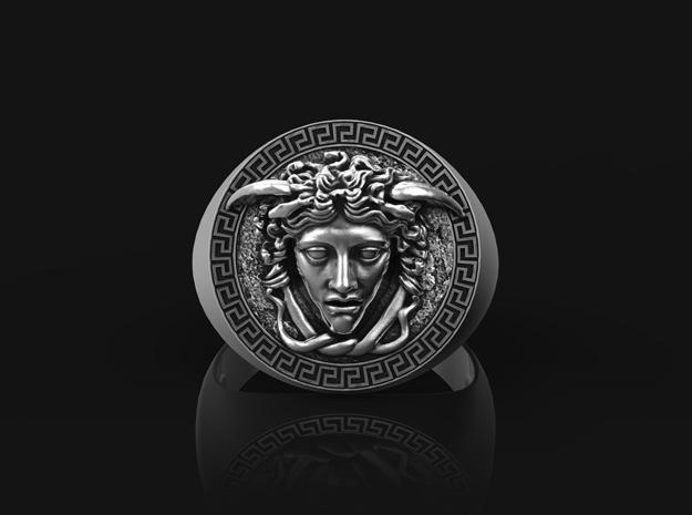 Medusa Ring in Antique Silver: 9.5 / 60.25