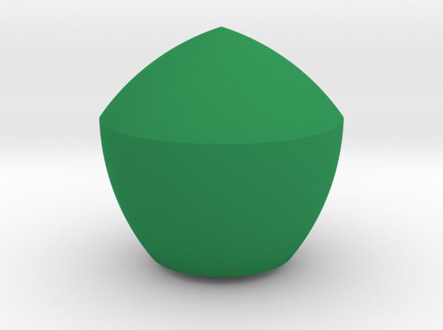 Jumbo Reuleaux Pentagon in Green Processed Versatile Plastic