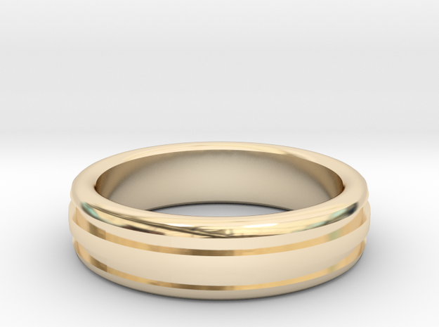 Man's Wedding Band M-004 in 14K Yellow Gold