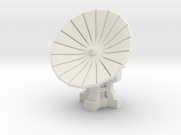 28mm Scale Com-Satellite Array in White Strong & Flexible