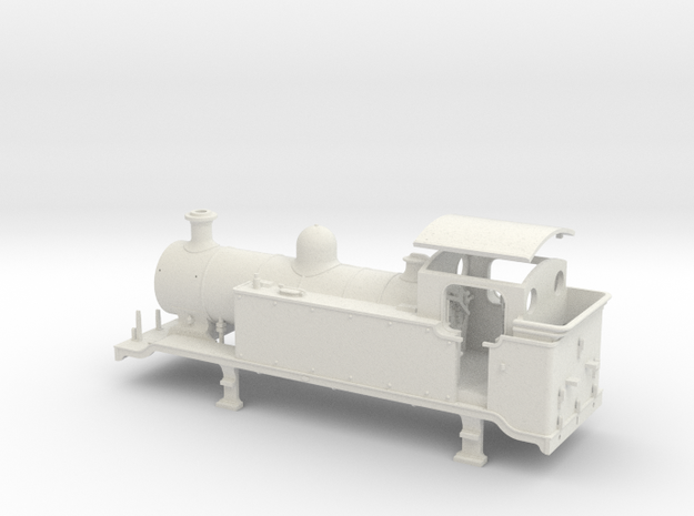 HO Scale LBSCR E2 (Unextended Tank) in White Natural Versatile Plastic
